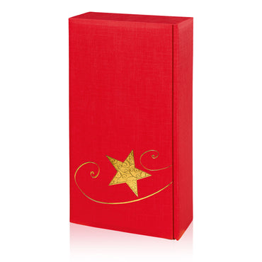 """Seta Red Stella"" (with gold Star embossed) - 2 er Gift Box"