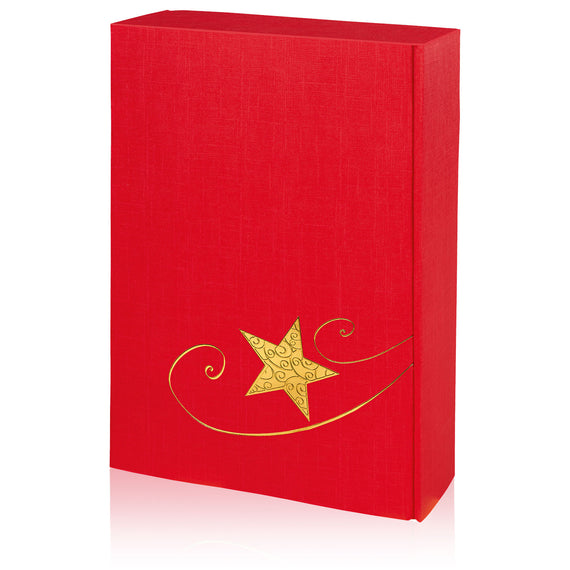 """Christmas Star red-gold"" - 3 er Gift Box P130336"