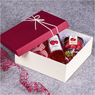 """Seta Bordeaux lid & white base"" - Structured 1er Gift Box"