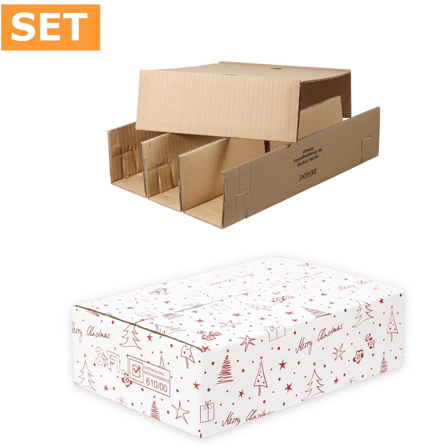50 x 3 bottles box DU-LOG, size 400x280x110mm
