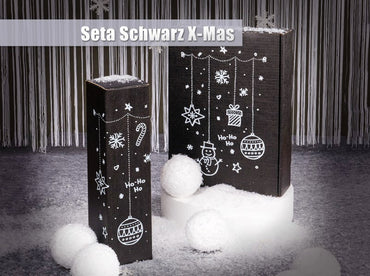 """Christmas Motive Black"" - 2 er Gift Box P120201"