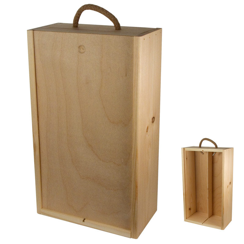 2er Wooden Box (with sliding lid)