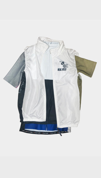 Real Velo X Expert Horror White Cycling Gilet