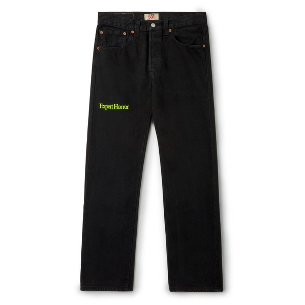 FLURO embroidered vintage Levi's. Black Denim