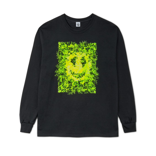 FLURO SMILEY Black Long Sleeve t-shirt