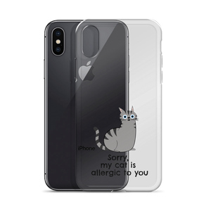 """Sorry my cat is allergic to you"" iPhone Case"