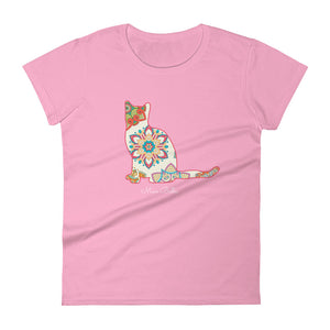"Miao Bella Women's short sleeve t-shirt ""Boho Meow"""