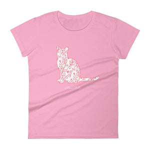 "Miao Bella Women's short sleeve t-shirt in ""Be Meow Valentine"""