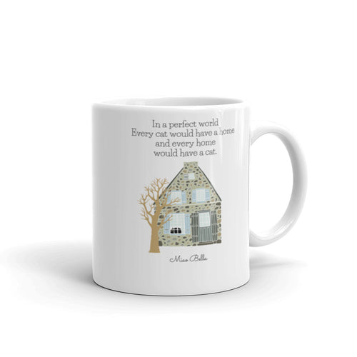 Home is Where My Cat Is Mug by Miao Bella - Made in the USA