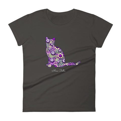 "Miao Bella women's short sleeve t-shirt in ""Purrple Posy"""
