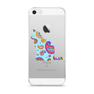 Bright Paisley Cat iPhone Case