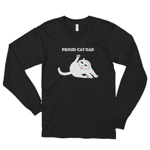 Proud Cat Dad Long Sleeve T-shirt (men's/unisex)