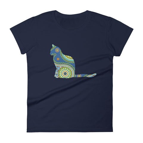 Miao Bella Royal Blue Paisley Women's short sleeve t-shirt