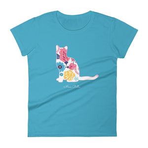 "Miao Bella Women's short sleeve t-shirt in ""Boho Blooms"""