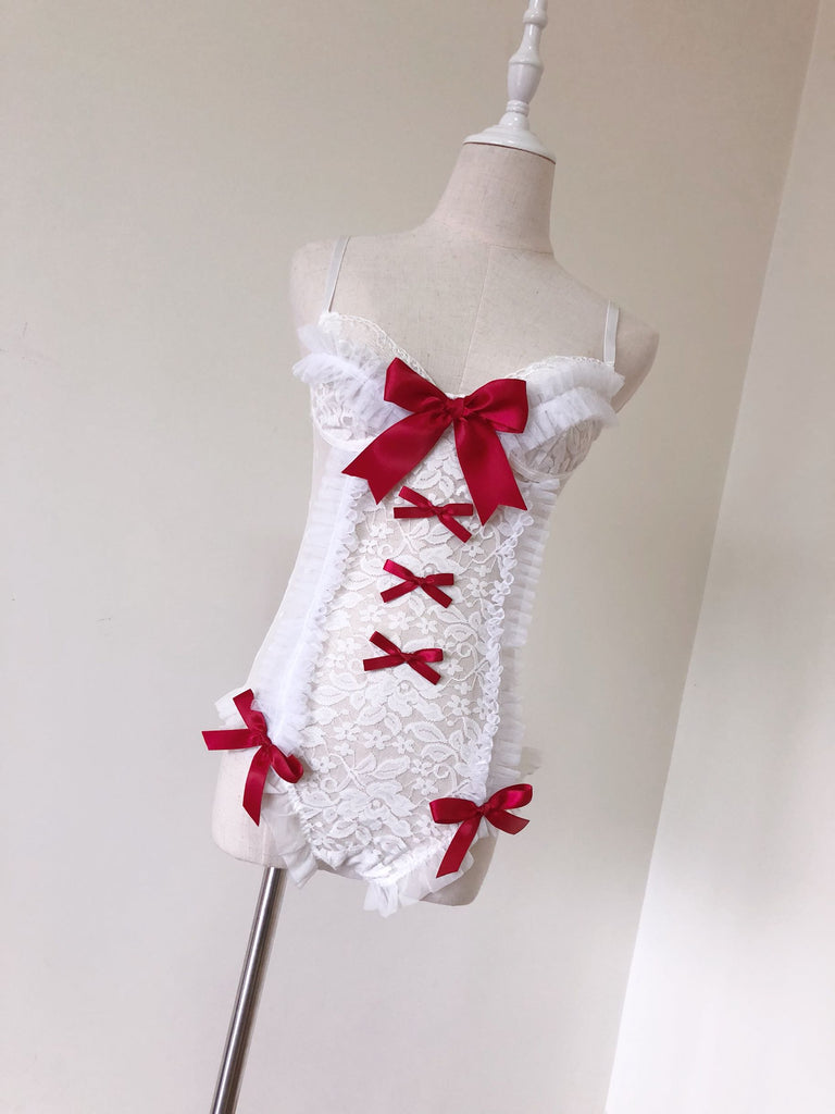 [Christmas Special] Cherry Kiss Lace Body - Peiliee Shop