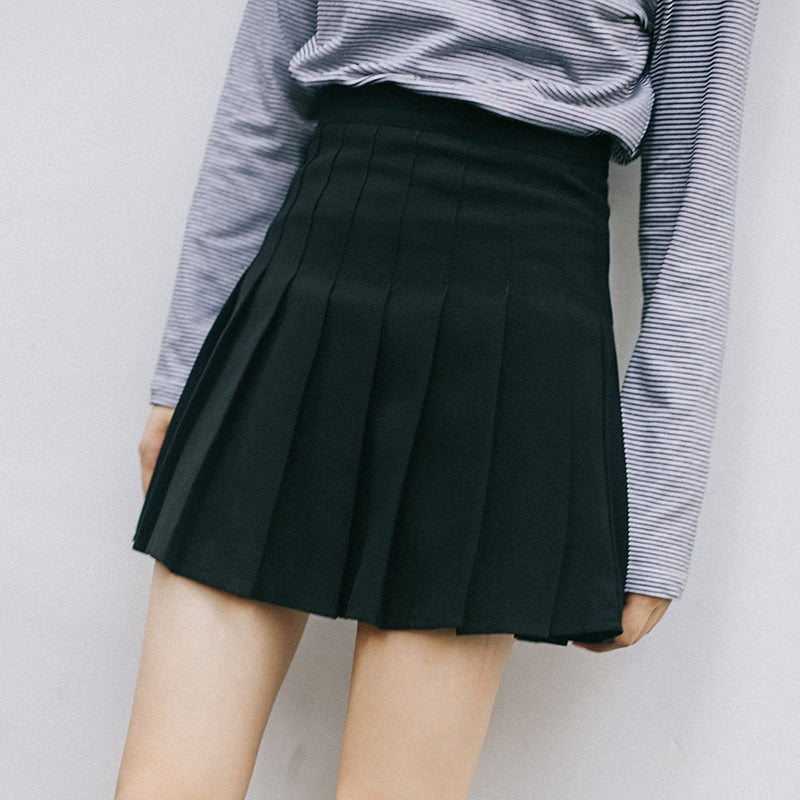 Classic Japanese High School Girl mini skirt With Shorts with plus size - Peiliee Shop