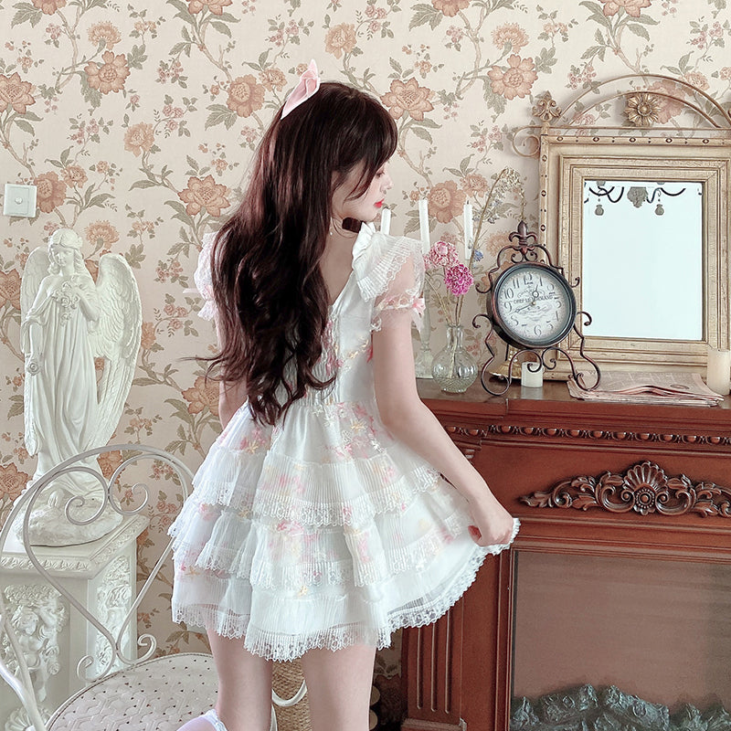[Premium Selected Brand] Sakura Rain Dropping On My Dress - Peiliee Shop