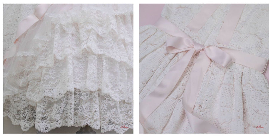 [Premium Selected] For Valentine III Rococo Style Laca Gown One-piece - Peiliee Shop
