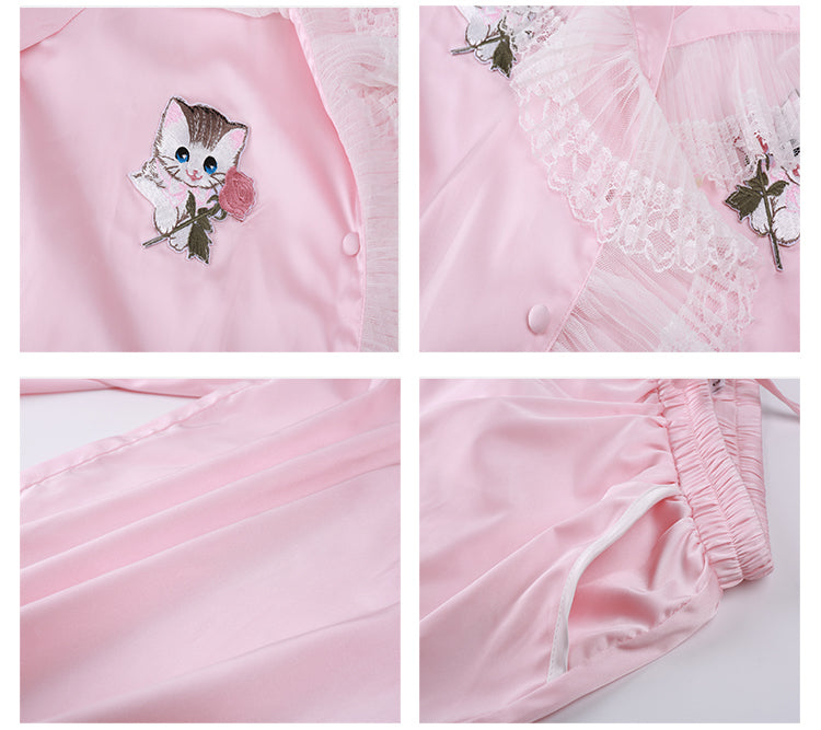 Bed Meow Story Sleepwear Set - Peiliee Shop