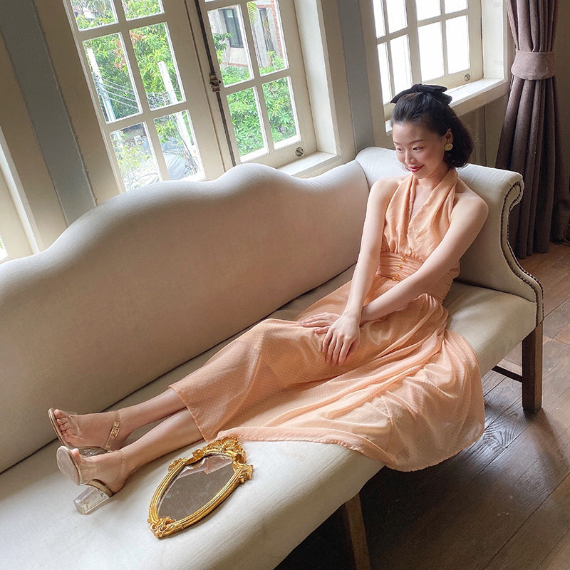 [Premium Selected] Autumn Wind Chiffon Vintage Dress - Peiliee Shop