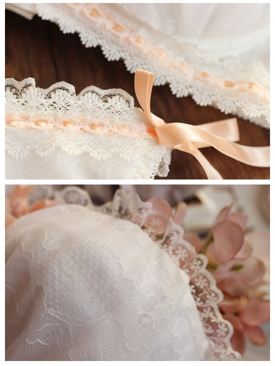 Dreamy Ballerina Bra Set With Plus Sizes - Peiliee Shop