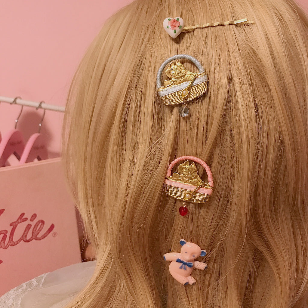 [Limited Edition] Kitty Party Brass hairpin (from Japanese Artist) - Peiliee Shop