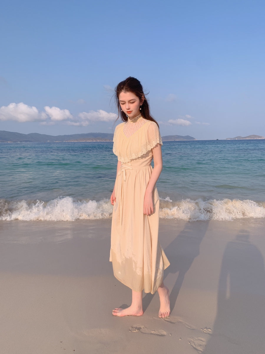 [Premium Selected] By the sea vintage lace Dress - Peiliee Shop