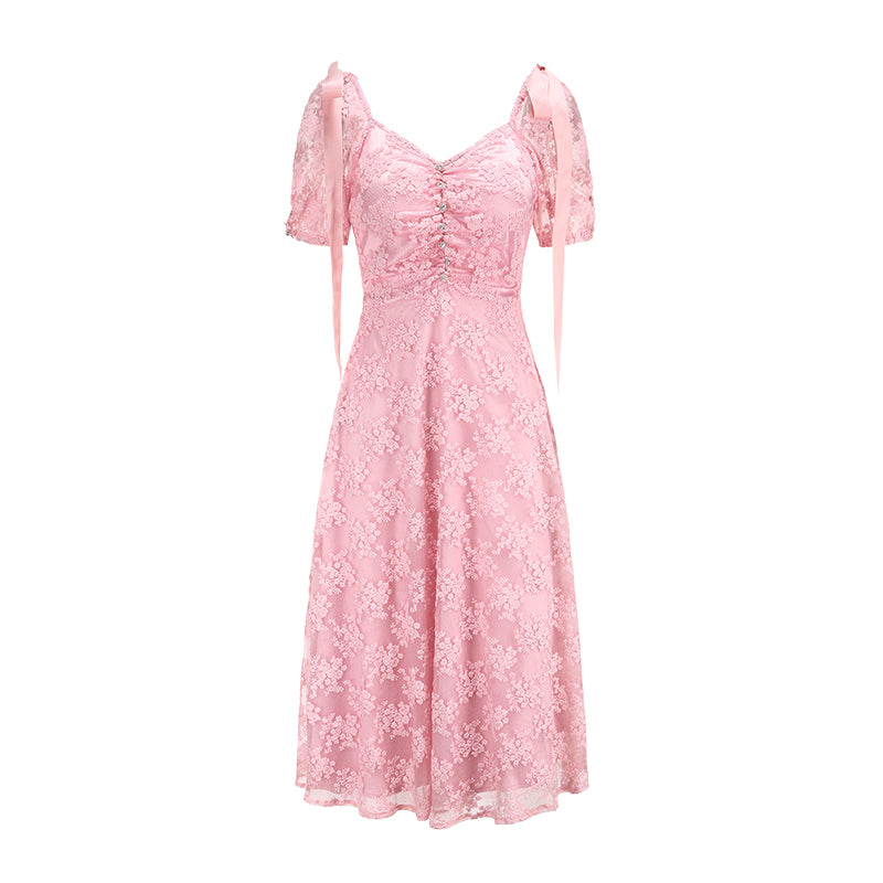 Flower Dream Lace Dress - Peiliee Shop