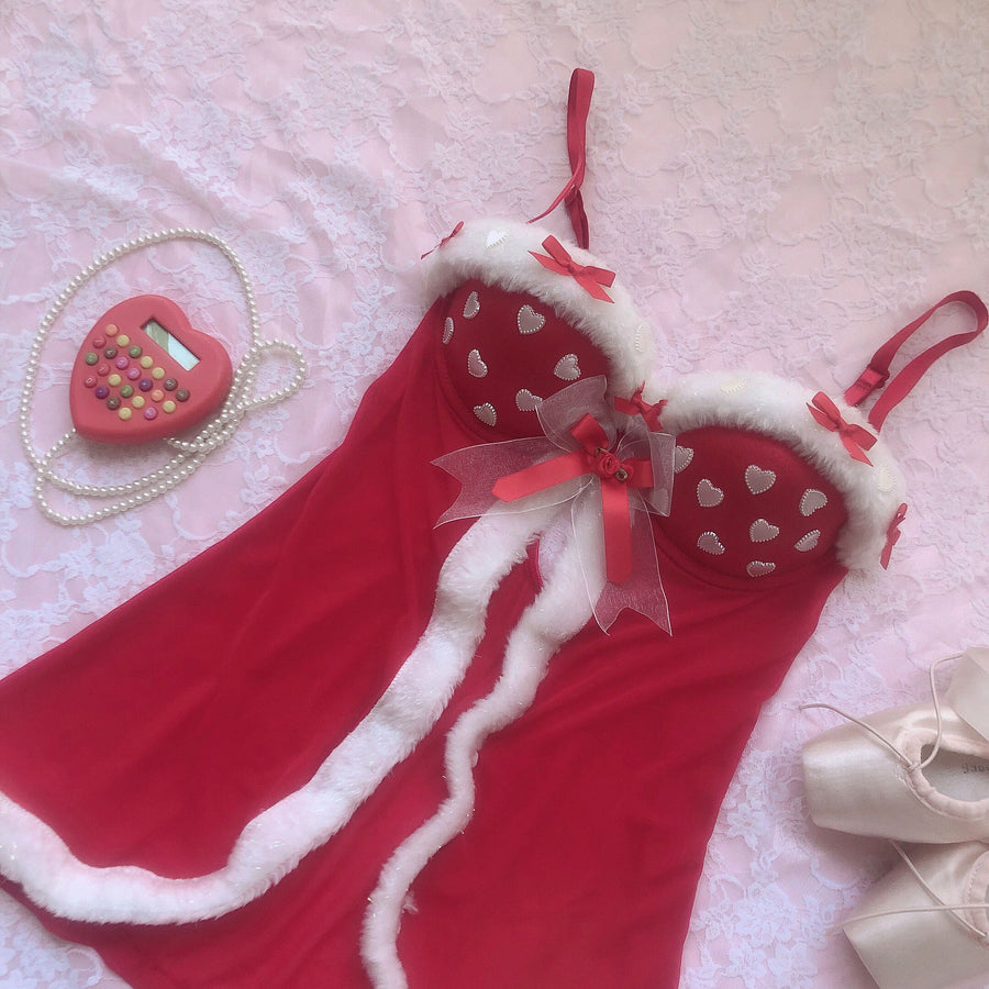 I don't care about Christmas, as long as you are with me Handmade Lace Body - Peiliee Shop