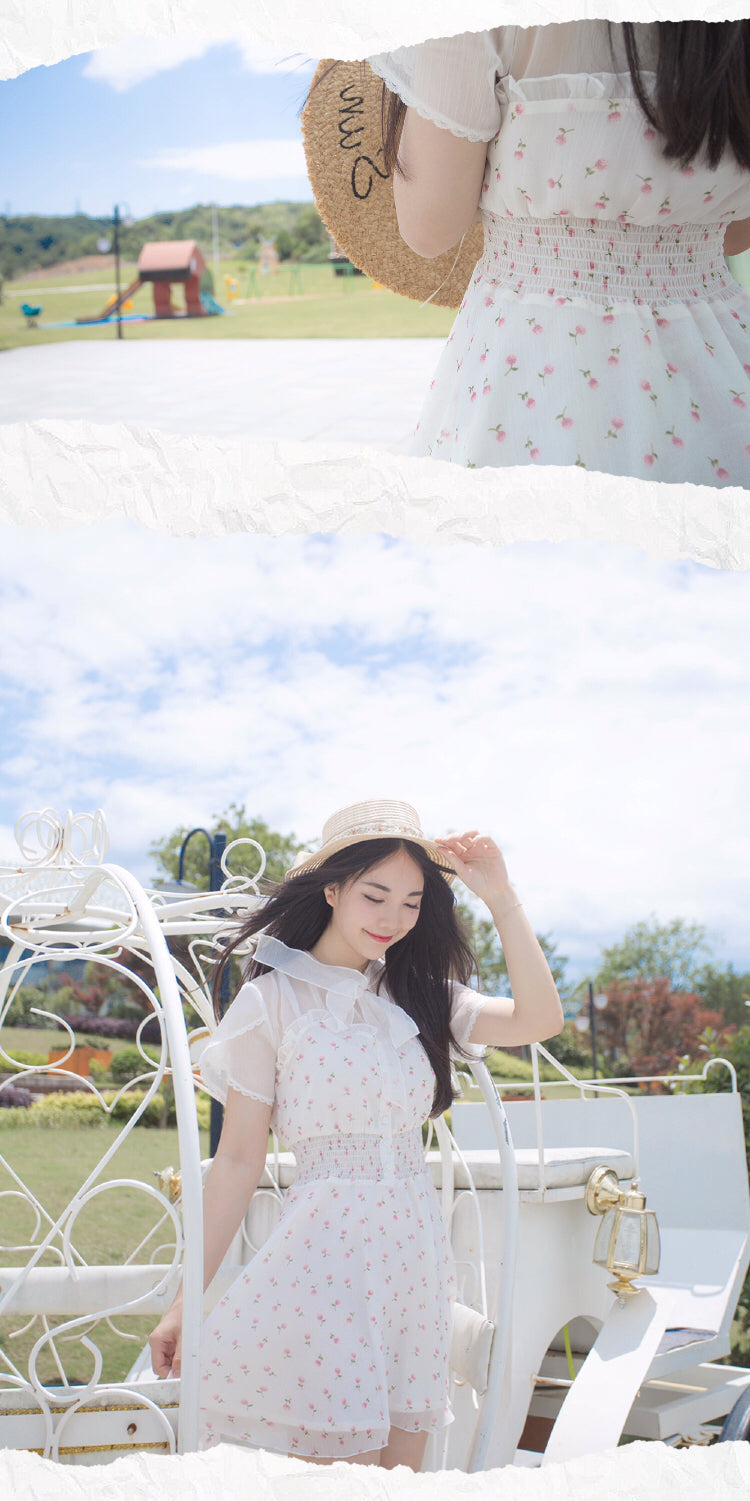 Flowery Talk Chiffon Dress - Peiliee Shop