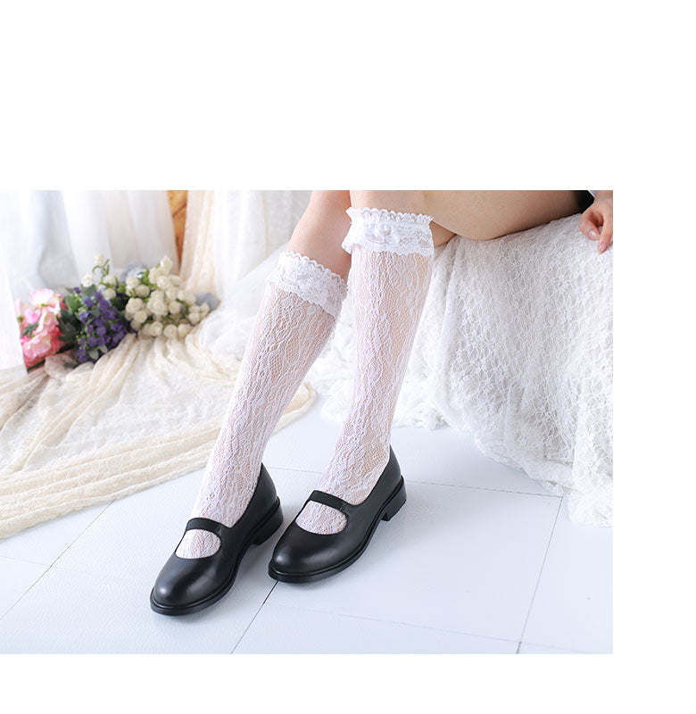 [Basic] Lolita Fairy Lace below knee socks - Peiliee Shop