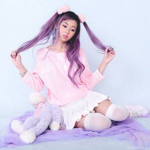 "[Back To Stock] ""You Look Delicious おまえうまそだな"" Japanese Letter Pinky Babe Sweater - Peiliee Shop"