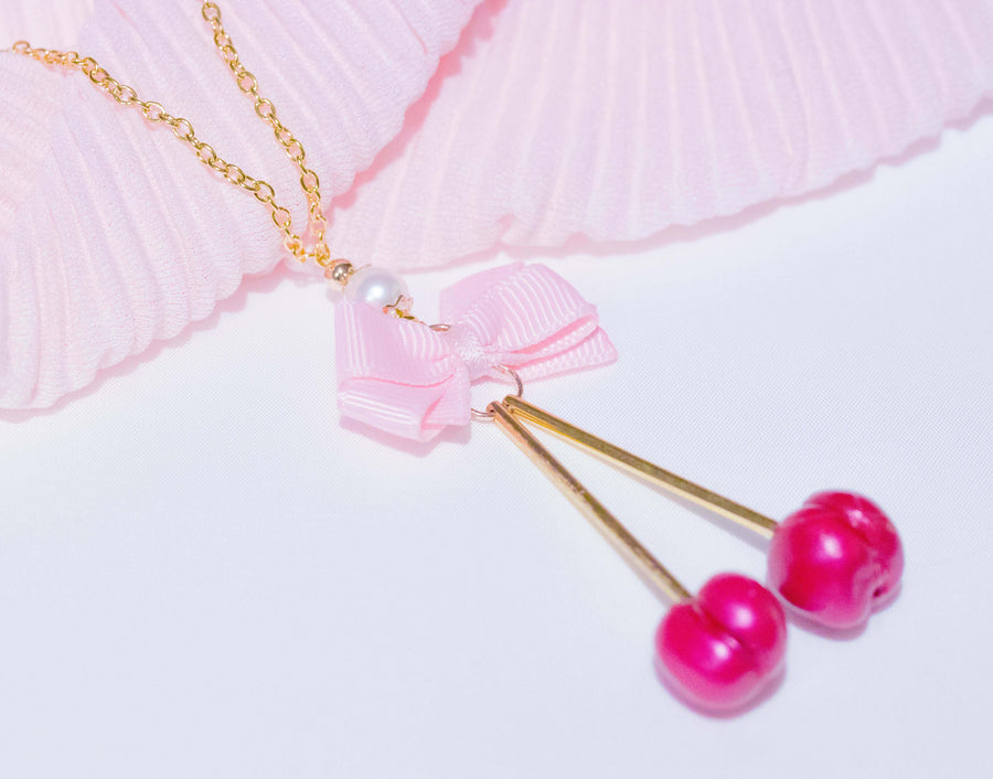 [Made in Sweden] Yumeyuu For My Cherry valentine necklace - Peiliee Shop
