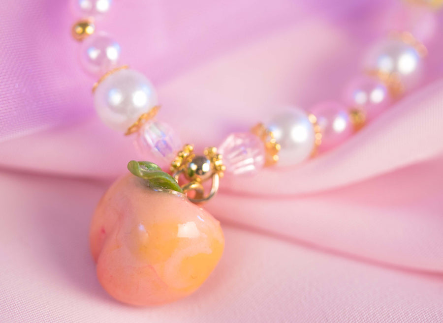 [Made in Sweden] Yumeyuu So Peachy bracelet necklace set - Peiliee Shop