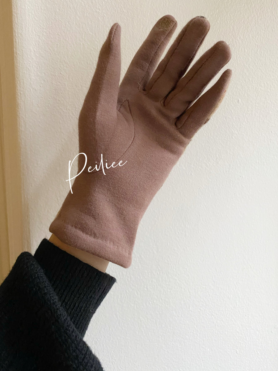 Old school style knit gloves - Peiliee Shop