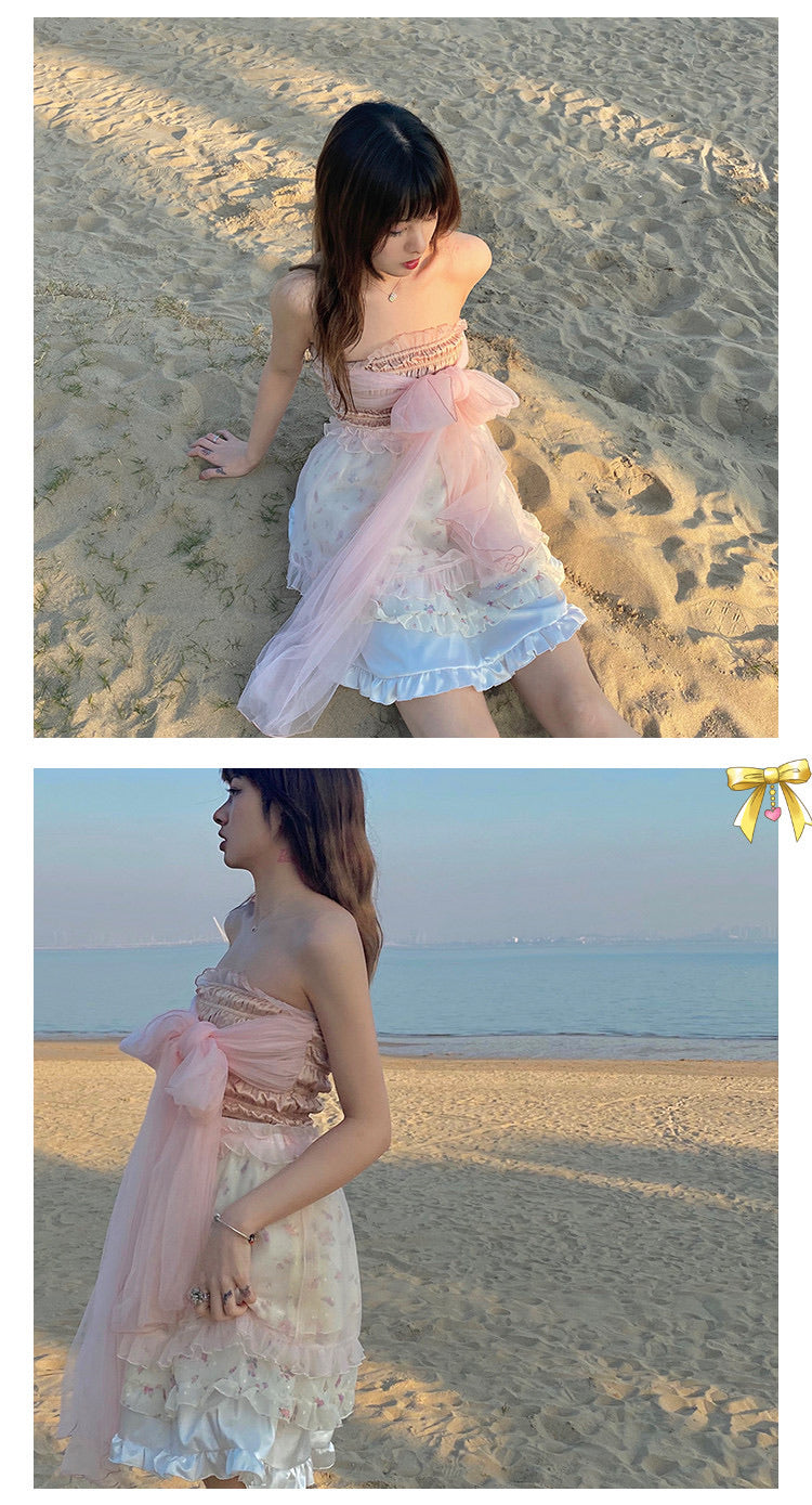 [Premium Selected] Last Dream Soft Yarn Ribbon Bra Top (designer Arilf) - Peiliee Shop