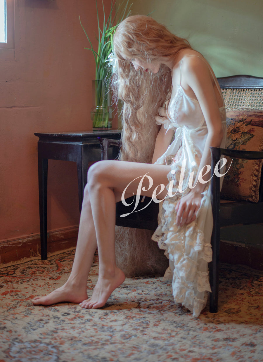 [Digital Product] PeilieeShop HD Modeling Photo - Vintage Lingerie Gown - Peiliee Shop