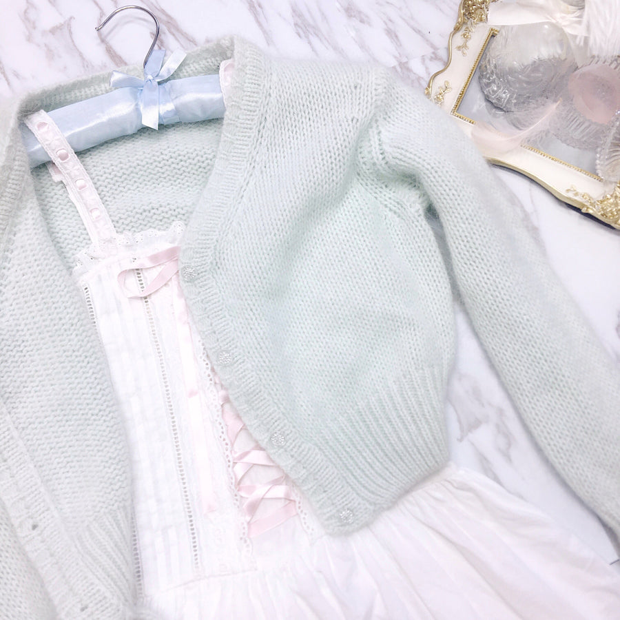 [Made By Peiliee] The Dancing Swan Soft Cardigan - Peiliee Shop