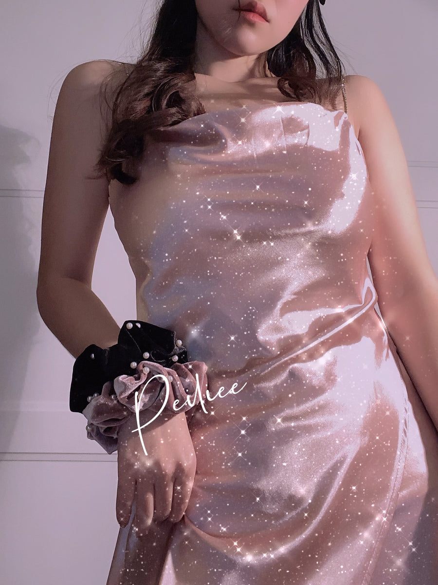 [Peiliee Petite] Soft moonlight Silk-like Satin Gown - Peiliee Shop