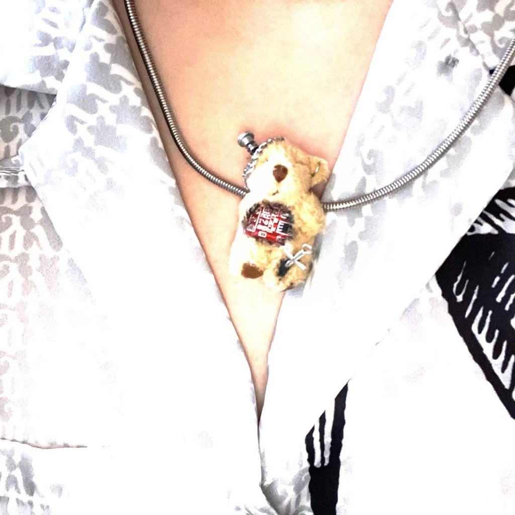 [Handmade by Yoko] I Hate Human - Bunny Doll Hairpin / Necklace - Peiliee Shop