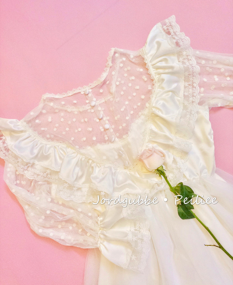 [Tailor Made] Rose Encens Handmade Vintage Dress [Premium Selected] - Peiliee Shop