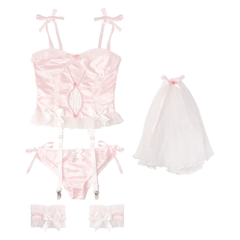 Tell Me More About Your Dream Babydoll Angelic Lingerie Set - Peiliee Shop