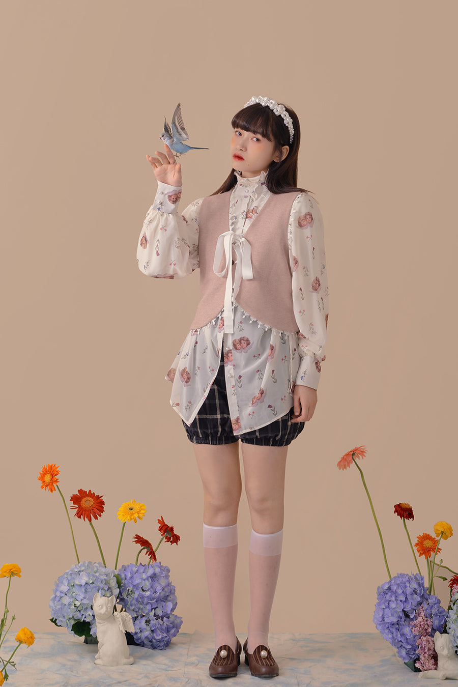 [Premium Selected Brand DTD] Flora Mood Angel Shirt - Peiliee Shop