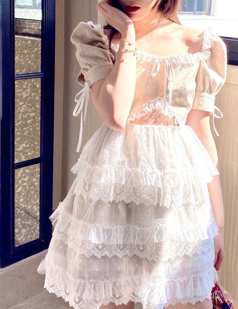 [Premium Selected] The Blooming Angel Elisabeth Lace Dress (Designer Arilf) - Peiliee Shop