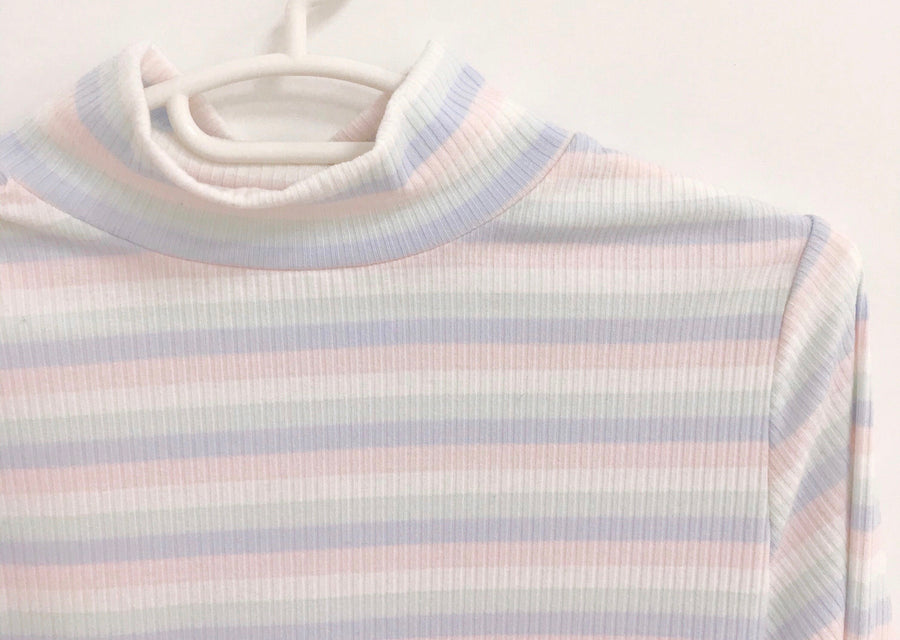 [Peiliee Teen] A pastel rainbow cuties basic cotton shirt - Peiliee Shop