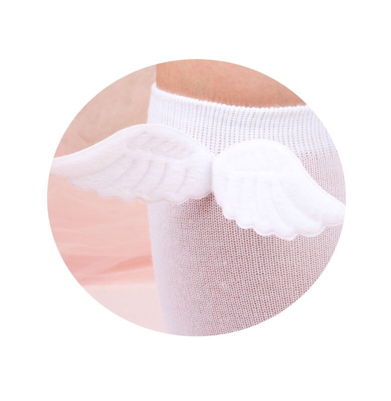 Feathers are reminders that angels are always near Angel Wing Socks - Peiliee Shop