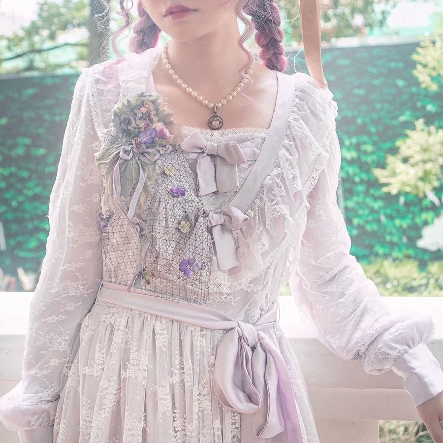 [Pre-order Premium Selected] 'The Stray Canaries' Lavender Lace OP Le Flacon - Peiliee Shop