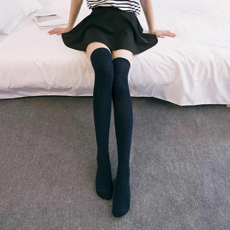 [Basic] Jk High School Girl OverKnees Socks - Peiliee Shop