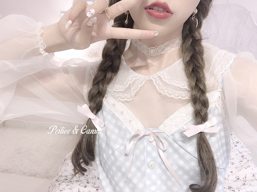 [Re-make in 2021] Yuki Hime Double Collar Pastel Blouse - Peiliee Shop