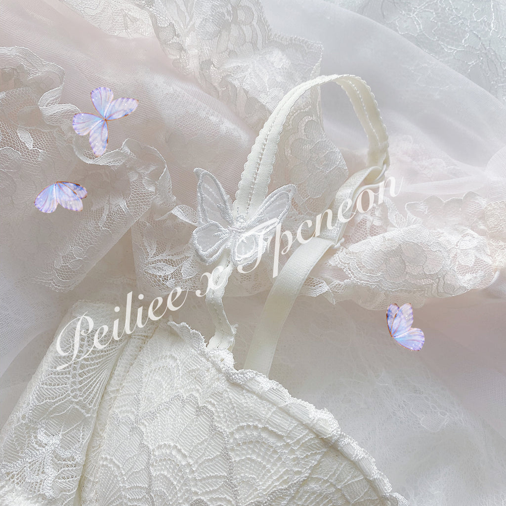 [Low Stock] Dreamy Butterfly Bra Set - Peiliee Shop